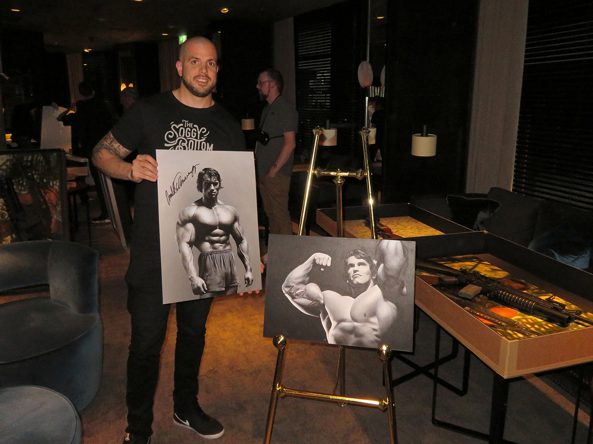 I had the great privilege of doing these commissioned paintings for an Evening with Arnold Schwarzenegger. One night in Leeds and one in Birmingham. They were signed before the event where I got to meet the great man himself and they went for a total of £10,000 in the auction. Thanks for whoever bought them and thanks to the company 'An Experience With' for putting on 2 incredible events. Go and check them out for more upcoming events.