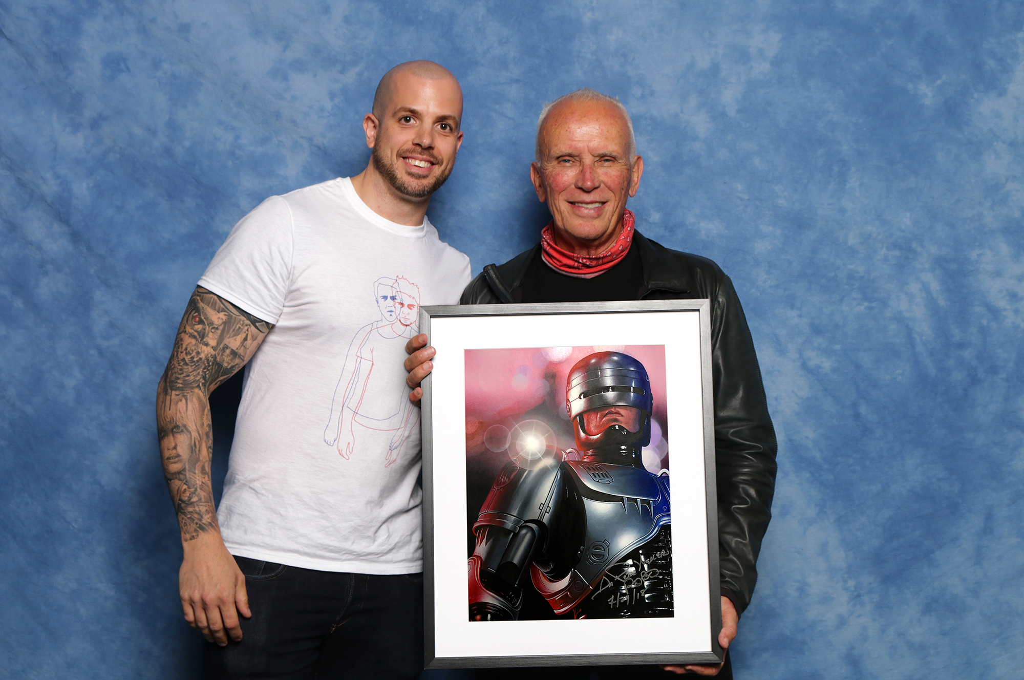 Painted portrait done for auction. Signed by Peter Weller (aka Robocop). Medium: Acrylic paints on art board. By Craig Mackay.