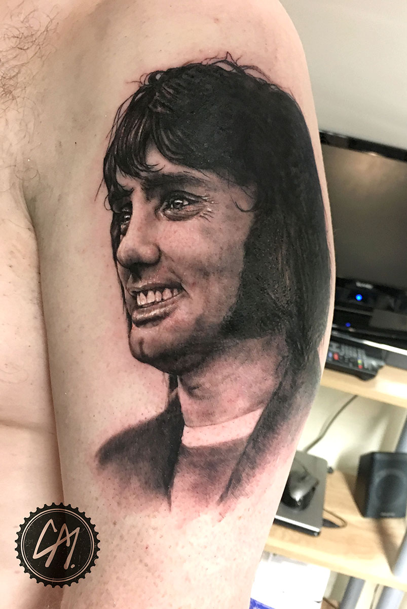 George Best Cover up. Tattoos by Craig Mackay.