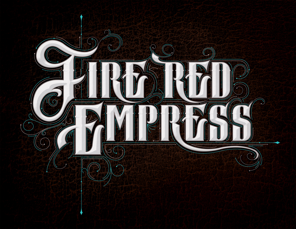 Band logo for 'Fire Red Empress'. Medium: Digital.