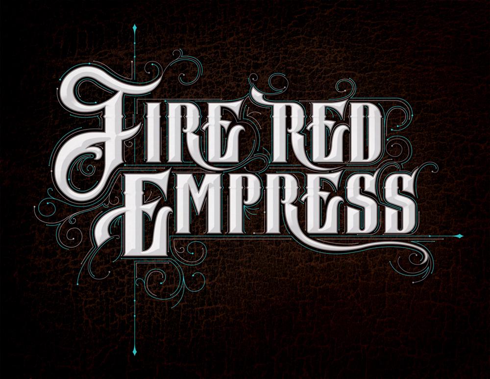 Band logo for 'Fire Red Empress'. Medium: Digital. By Craig Mackay.