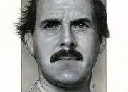 Portrait of John Cleese, signed and sold by Monopoly Events. Medium: Acrylic paints on art board. Prints available to buy at www.etsy.com/uk/shop/CraigMackayDesign. By Craig Mackay.