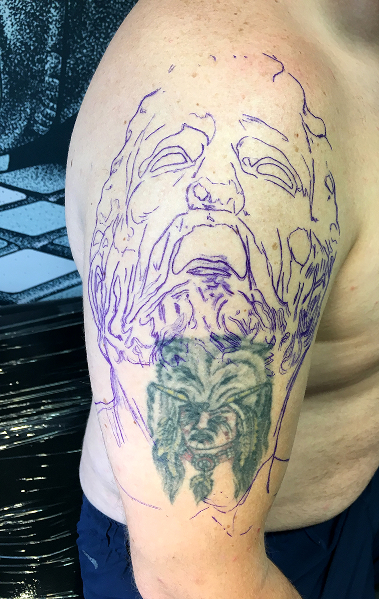 (Before) Coverup. Tattoos by Craig Mackay