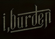 Band logo for 'i, Burden'. Medium: Digital. By Craig Mackay.