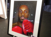 Here is a painted portrait I recently did of Nigel Benn for an evening with Nigel Benn at Walsall Football club. This was signed by the man himself and auctioned off on the night. Medium: Acrylics on art board. By Craig Mackay.