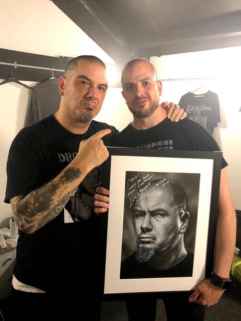 Portrait of Legendary Pantera/Down frontman Phil Anselmo. Medium: Acrylic paints on art board. Prints available to buy at www.etsy.com/uk/shop/CraigMackayDesign. By Craig Mackay.
