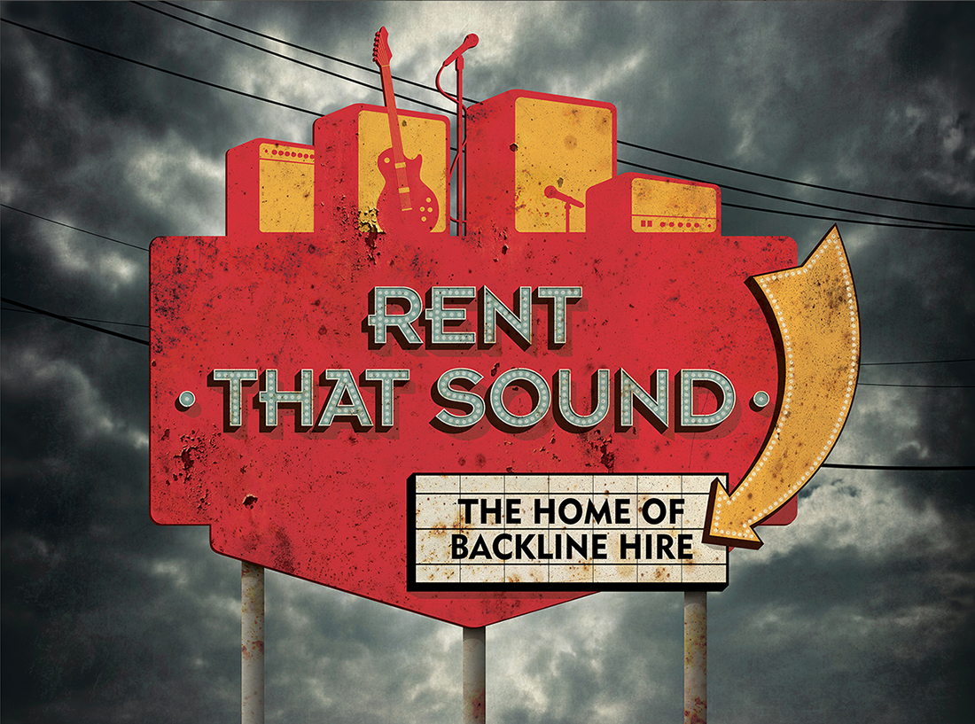 Company Logo for 'Rent That Sound'. Medium: Digital.