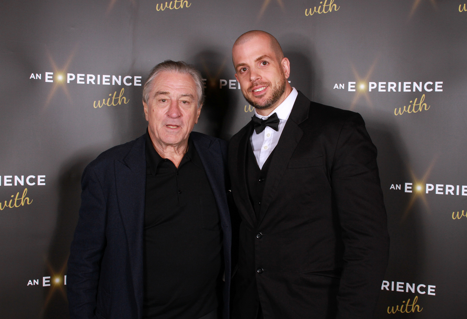 Meeting the amazing Robert De Niro after getting my paintings signed. By Craig Mackay