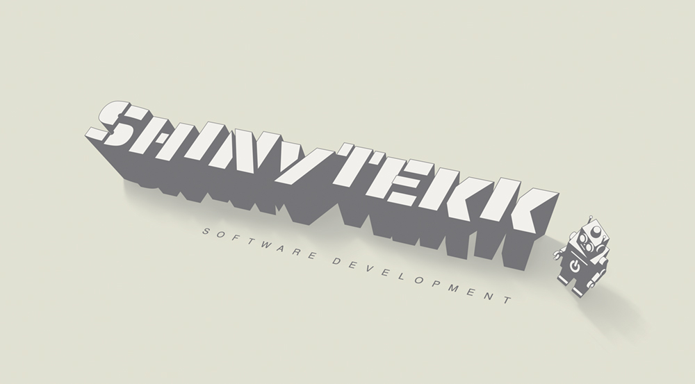 Company logo for 'ShinyTekk'. Medium: Digital.