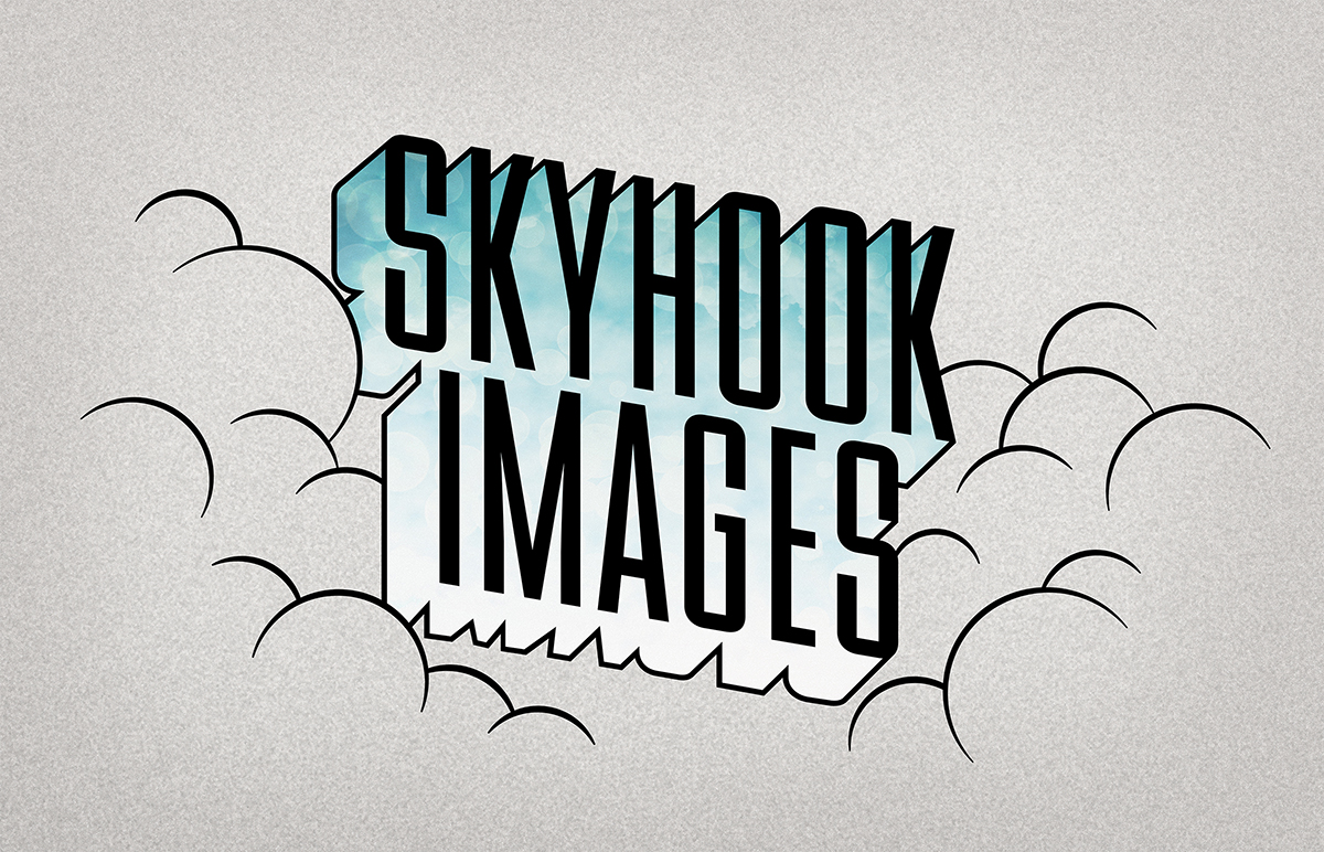 Company logo for 'Skyhook Images'. Medium: Digital. By Craig Mackay.
