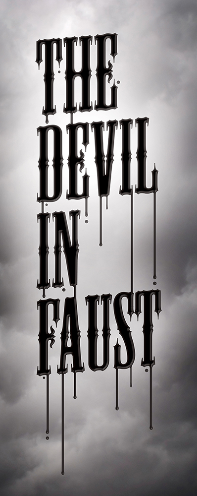 Band logo for 'The Devil In Faust'. Medium: Digital.