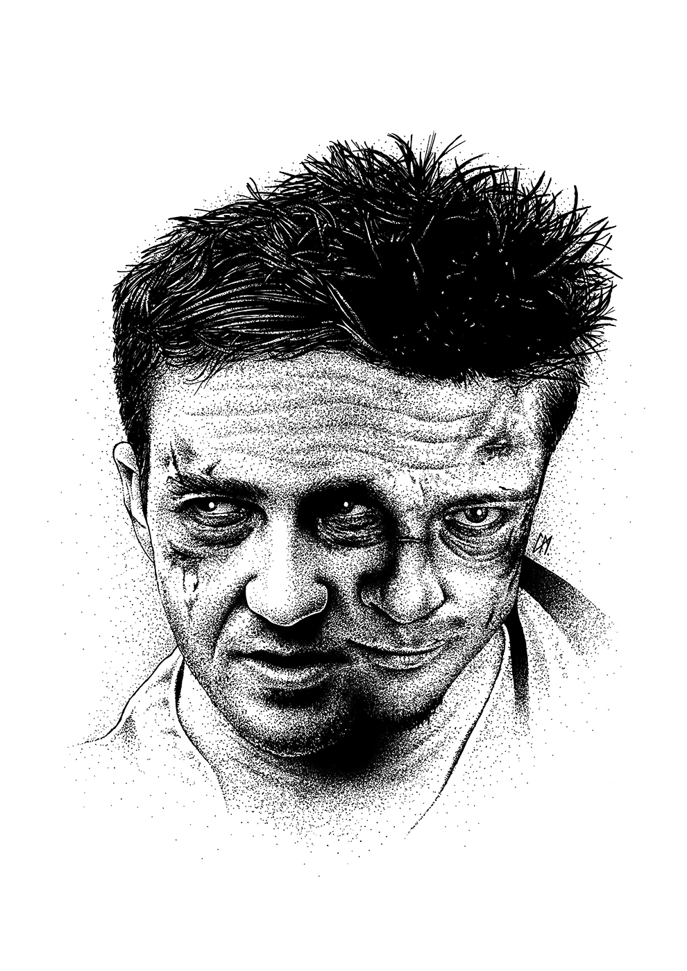 New print available. 'The First Rule Of Fight Club' inspired by the film 'Fight Club'. Medium. Black pen on paper. A4's and A3's available in my store: www.etsy.com/uk/shop/CraigMackayDesign